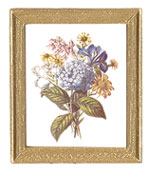 MUL5374 - Framed Rectangle Floral Pictures 4Pcs.