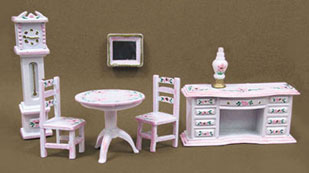 MUL5407A - 1/4In Parlor Set Hp Wh/Pink