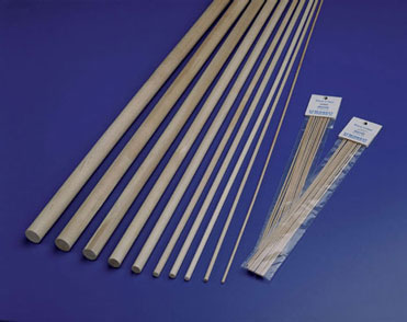 MW7906  - Birch Hardwood Dowels, 1/4X36,30/Pk