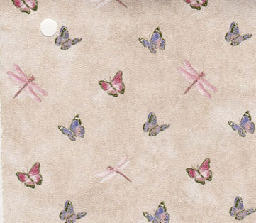 NC10114 - Pp Wallpaper, 3pc: Lavender & Pink Butterflies