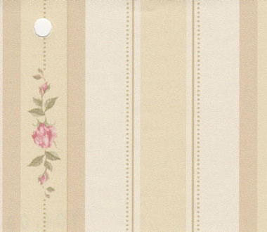 NC10409 - Pp Wallpaper: Pink Rose Stripe