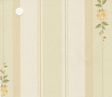 NC10413 - Pp Wallpaper, 3pc: Yellow Rose Stripe