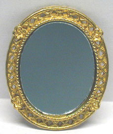 NCRA0148 - Oval Victorian Gold Mirror