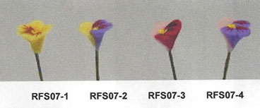 NCRFS07-2 - Pansy Stems-Purple/Yellowith Set Of 12
