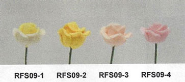 NCRFS09-2 - Rose Stems-Yellowith Set Of 12