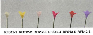 NCRFS12-3 - Flower Stems-Lt.Pink/Set Of 12