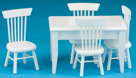 NCTLF106 - White Table-4 Chair Dining Set, S/5