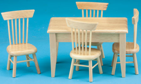 NCTLF107 - Oak Table-4 Chair Dng Set, S/5