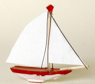 NCRA0300 - Sail Boat 1-5/8In Height