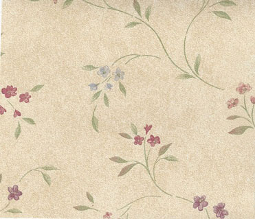NC11602 - Pp Wallpaper, 3pc: Tiny Floral Vines On Tan
