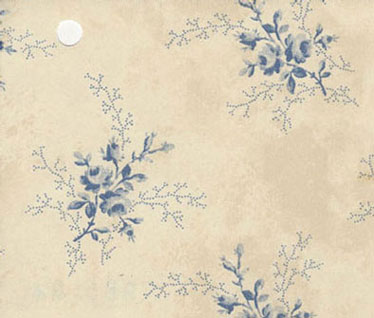 NC98504 - Pp Wallpaper: Blue Sprays On Beige