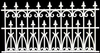 NWC201 - Fence 3-1/2 In White Ornate Plastic, 144