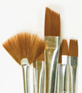 PLD44221 - Plaid Brown Nylon Brush Set, 10pc