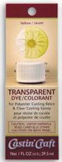 SMWR12 - 1 Oz Carded Transparent Dye - Yellow