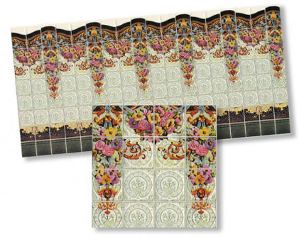 WM34443 - Nouveau Wall Tiles 10 1/2 Inch X 5
